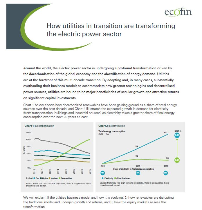 How utilities in transition are transforming the electric power sector
