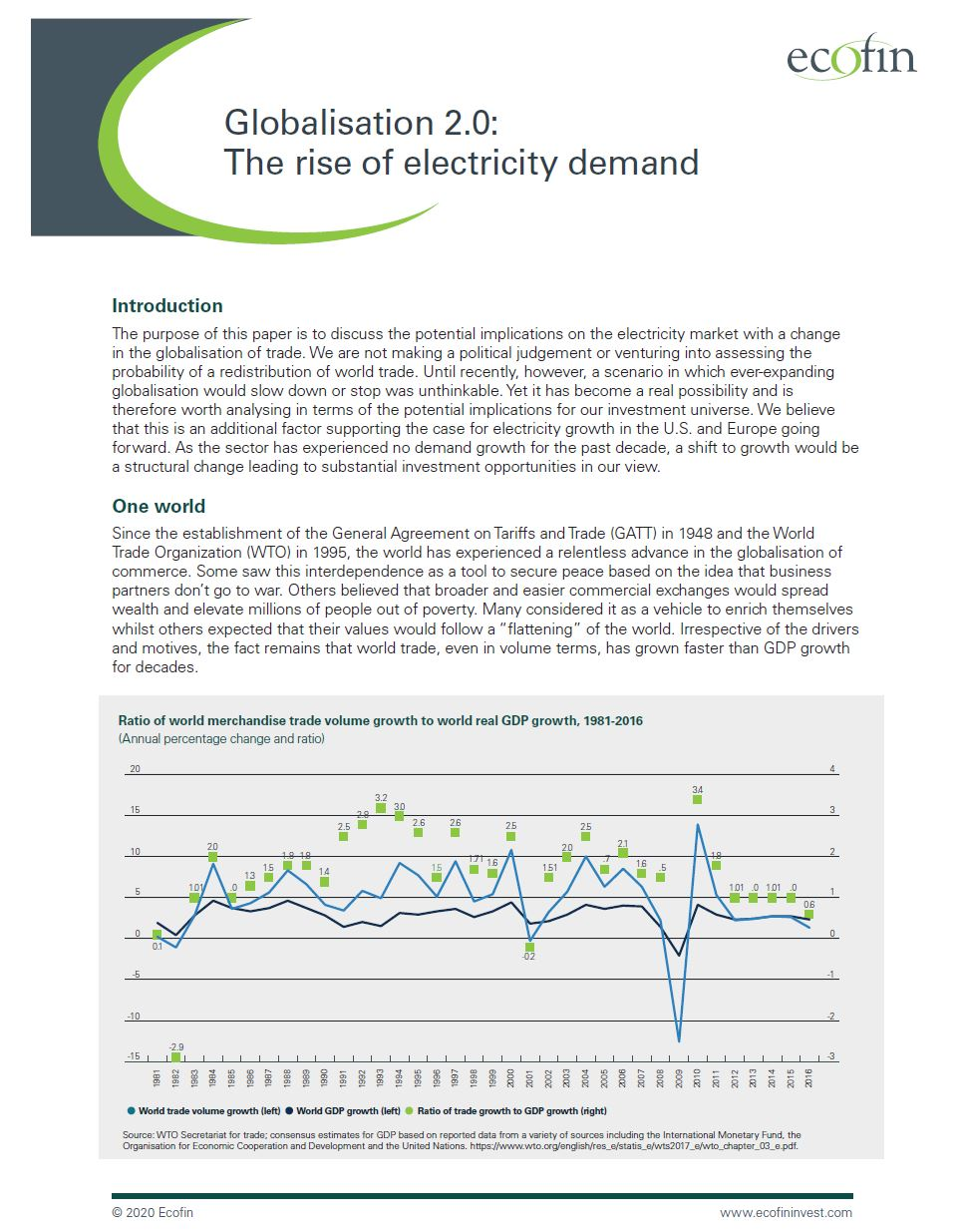 Globalisation 2.0: The rise of electricity demand